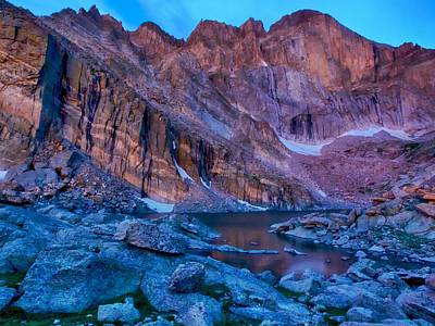 Chasm Lake Gold Art Print