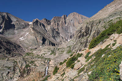 Chasm Lake Photograph - Chasm Lake Junction And Longs Peak by Aaron Spong