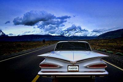 Photograph - Chasper The Friendly Ghost 1959 Chevrolet by TeeMack