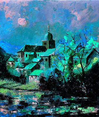 Moonshine Painting - Chassepierre 6712 by Pol Ledent