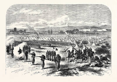 Vincennes Drawing - Chassepot Rifle Instruction At The Camp Of St by English School