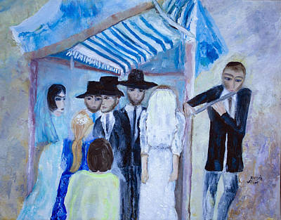 Painting - Chassidic Wedding by Aleezah Selinger