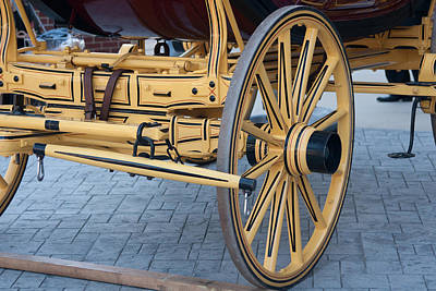 Wells Fargo Stagecoach Photograph - Chassis Setup From Front by Craig Hosterman