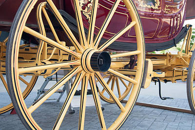Wells Fargo Stagecoach Photograph - Chassis Setup From Rear by Craig Hosterman