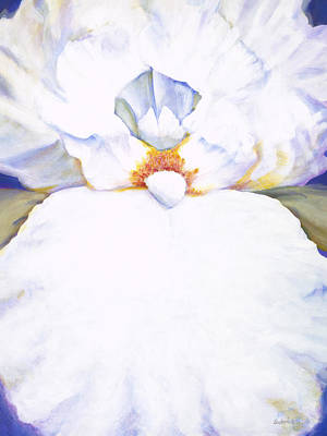 Colorchrome Scans Painting - Chastity White Iris by Jerome Lawrence