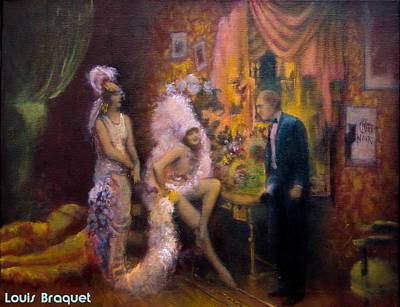 New Orleans Oil Painting - Chat Noir by Louis  Braquet