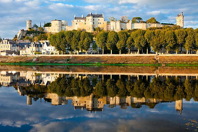 Chateau Above And Below Chinon  Art Print by Kirk Strickland