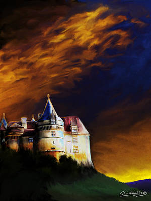 Chateau Au Crepuscule Art Print by Chris Knights