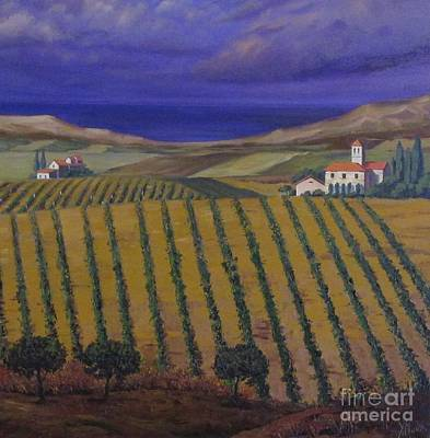 Chateau Before Rain Art Print by Margaryta Yermolayeva