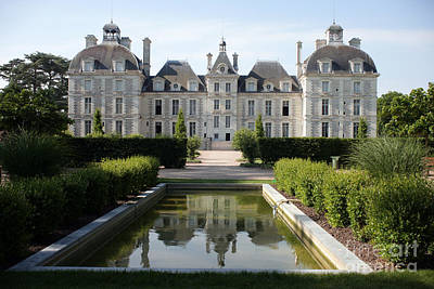 Chateau Cheverny Loire France Art Print by Ros Drinkwater