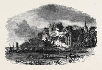 Amboise Drawing - Chateau Damboise, On The Loire by English School