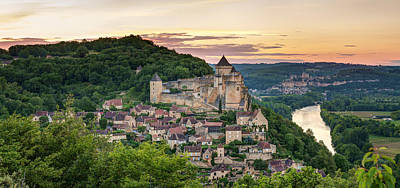 Chapelle Photograph - Chateau De Castelnaud Castle by Panoramic Images