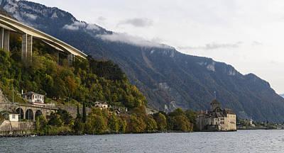 Chillon Photograph - Chateau De Chillon by Brandon Bourdages