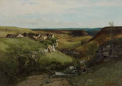 Laundry Painting - Chateau Dornans by Gustave Courbet