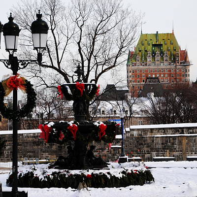 Photograph - Chateau Frontenac - Holiday by Jacqueline M Lewis