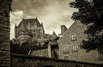 Photograph - Chateau Frontenac In Old Quebec by Phil Cardamone