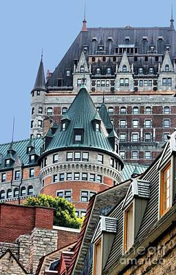 Photograph - Chateau Frontenac Quebec Canada by Polly Peacock