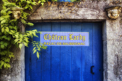 Paris In Blue Fine Art Photograph - Chateau Lardy by Georgia Fowler