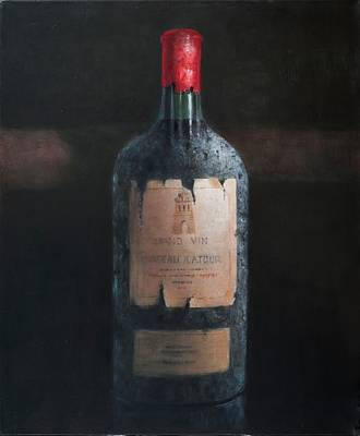 Bar Decor Painting - Chateau Latour by Lincoln Seligman
