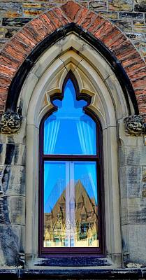 Chateau Laurier - Parlaiment Window - Reflection # 6 Art Print