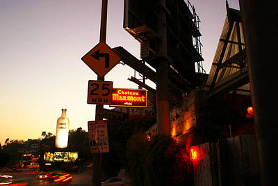 Chateau Marmont At Sunset Art Print by Robert Fowler