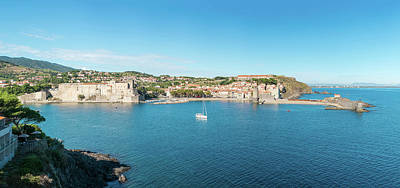 Pyrenees Photograph - Chateau Royal De Collioure And Church by Panoramic Images