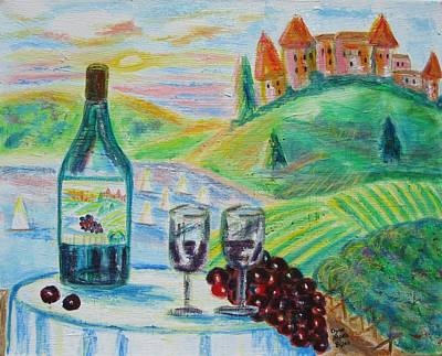 Chateau Wine Art Print