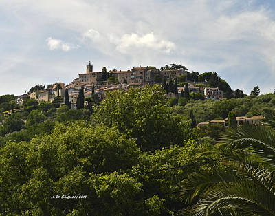 Photograph - Chateauneuf Du Grasse by Allen Sheffield