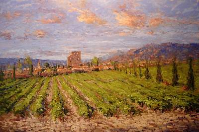 Winery Painting - Chateauneuf Du Pape by R W Goetting