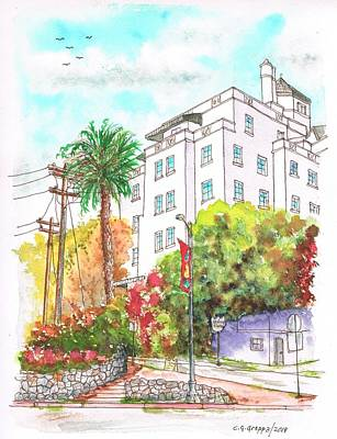 Chateaux Marmont In Sunset Blvd - West Hollywood - California Original by Carlos G Groppa