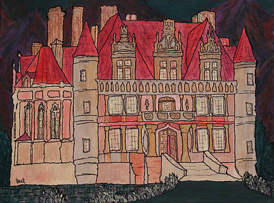 Prague Castle Painting - Chateu  by Oscar Penalber