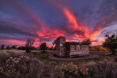Photograph - Chatfield Cabin by Darren  White