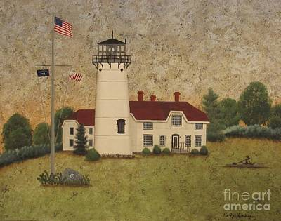 Chatham Light Art Print by Becky Humbarger