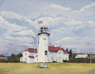 Cape Cod Painting - Chatham Light by Heidi Gallo