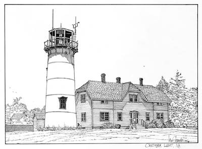 Chatham Light Art Print