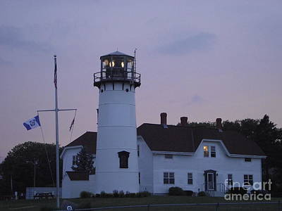 Photograph - Chatham Lighthouse At Dusk by Michelle Welles