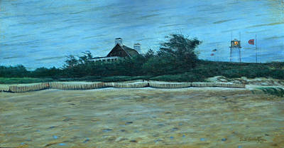 Cape Cod Painting - Chatham Lighthouse by Erik Schutzman
