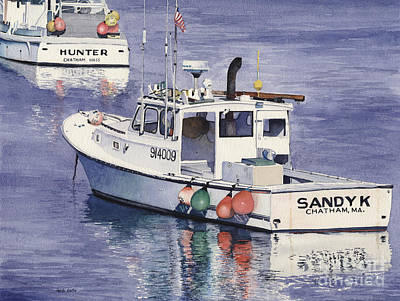 Cape Cod Painting - Chatham Work Boats by Heidi Gallo