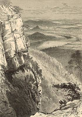 Chattanooga And The Tennessee From Lookout Mountain Art Print by Antique Engravings