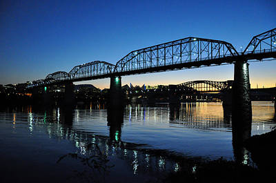 Tennessee River Bridges Chattanooga Art Print