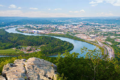 Photograph - Chattanooga Spring Skyline by Melinda Fawver