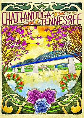 Chattanooga Tourism 1 Art Print by Steven Llorca