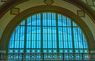 Photograph - Chattanooga Train Depot Stained Glass Window by Susan  McMenamin