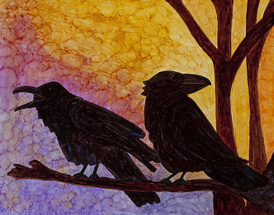 Chatter What Art Print by Jennifer Fielder