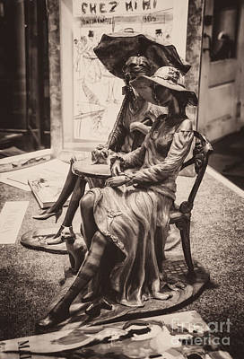 Photograph - Chatting Ladies Of Royal St. - Sepia by Kathleen K Parker