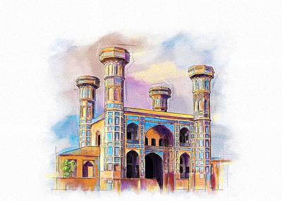 Painting - Chauburji Lahore by Catf