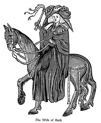Jeffery Drawing - Chaucer The Wife Of Bath by Granger