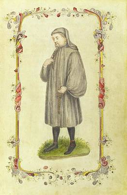 Chaucher The Author Art Print by British Library