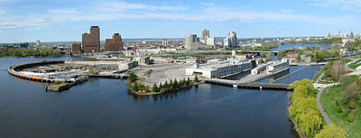 Photograph - Chaudiere Falls Aerial Panorama by Rob Huntley