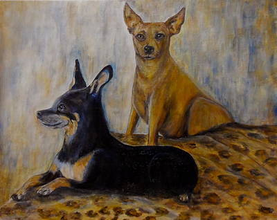 Painting - Chauncy And Bella by Maureen Pisano